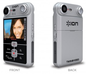 Ion Audio's Twin Video has the ability to record video on both side of the camera at the same time.