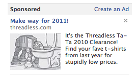 Threadless Facebook Display Ad