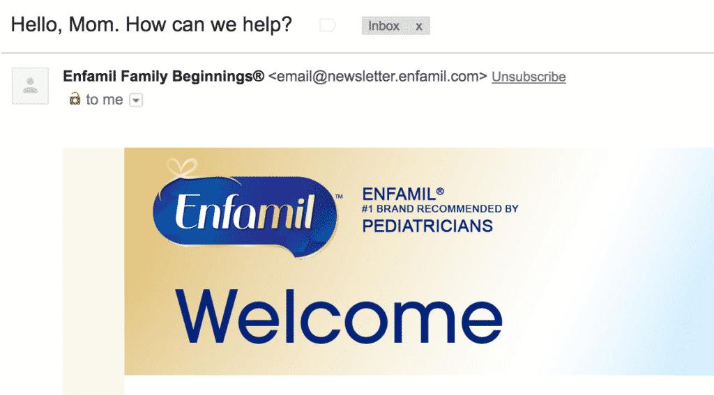 Enfamil email fail